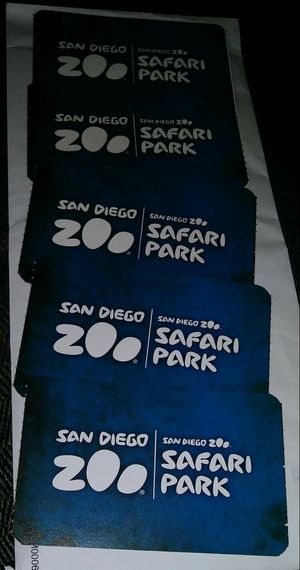 San Diego Zoo 6 Tickets includes all rides free inside. $40 each firm. No Less. Expires 01/11/2019 I can sell separate or all together. for Sale in San Diego, CA