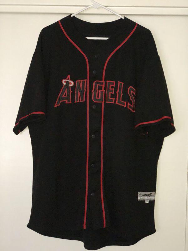 21d63568 Black/red custom Angels jersey Men's 2xL for Sale in Ontario, CA ...
