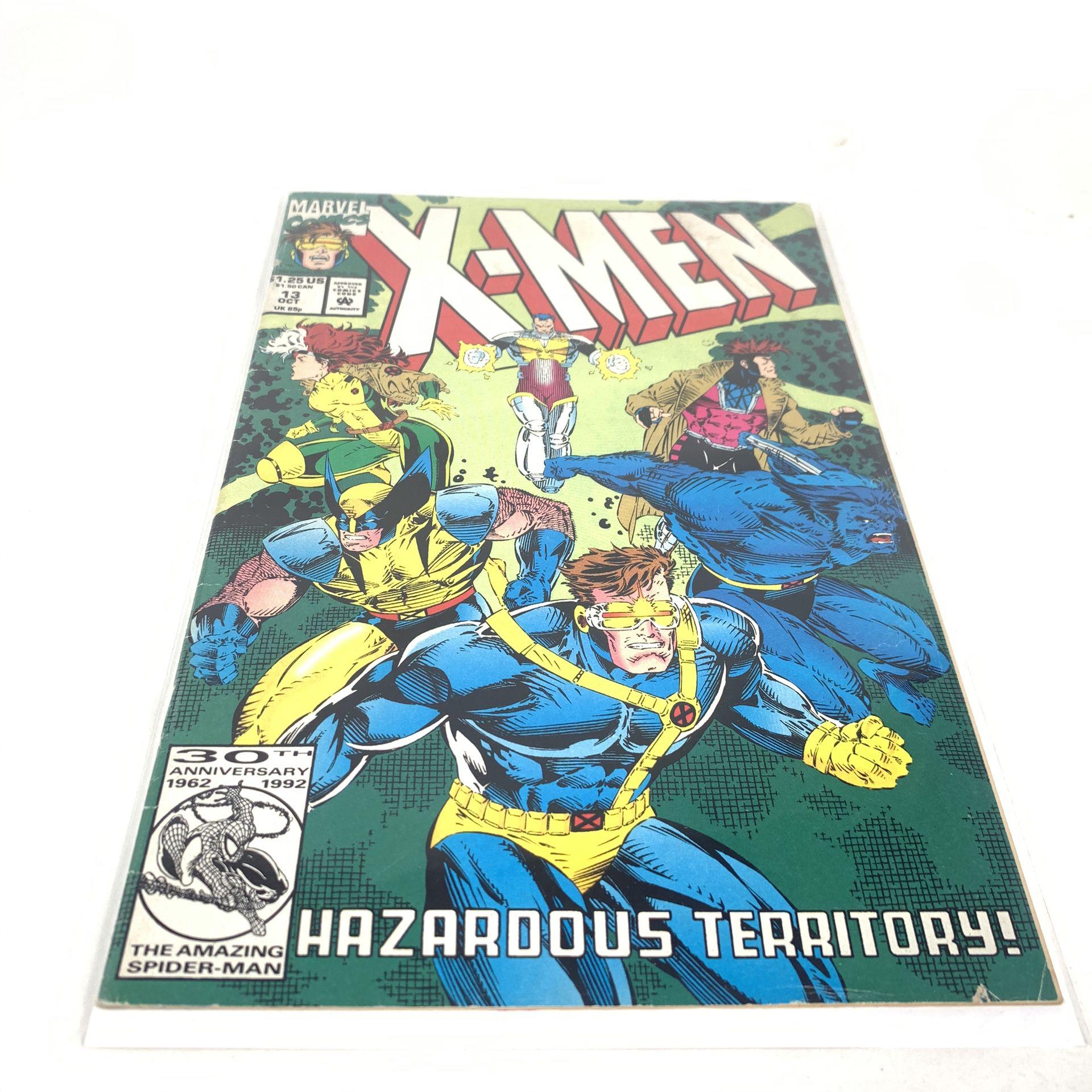X-Men Issue # 13 October, 1992 Hazardous Territory Collectible Marvel Comics