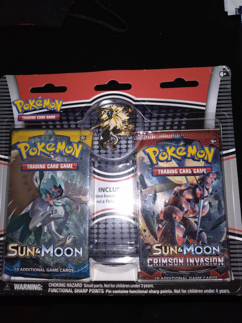 Pokemon Sun & Moon Booster W/ Pin