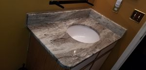 Custom Fantasy Brown Granite Faucet Countop or Kitchens (swipe pics) for Sale in Fort Washington, MD