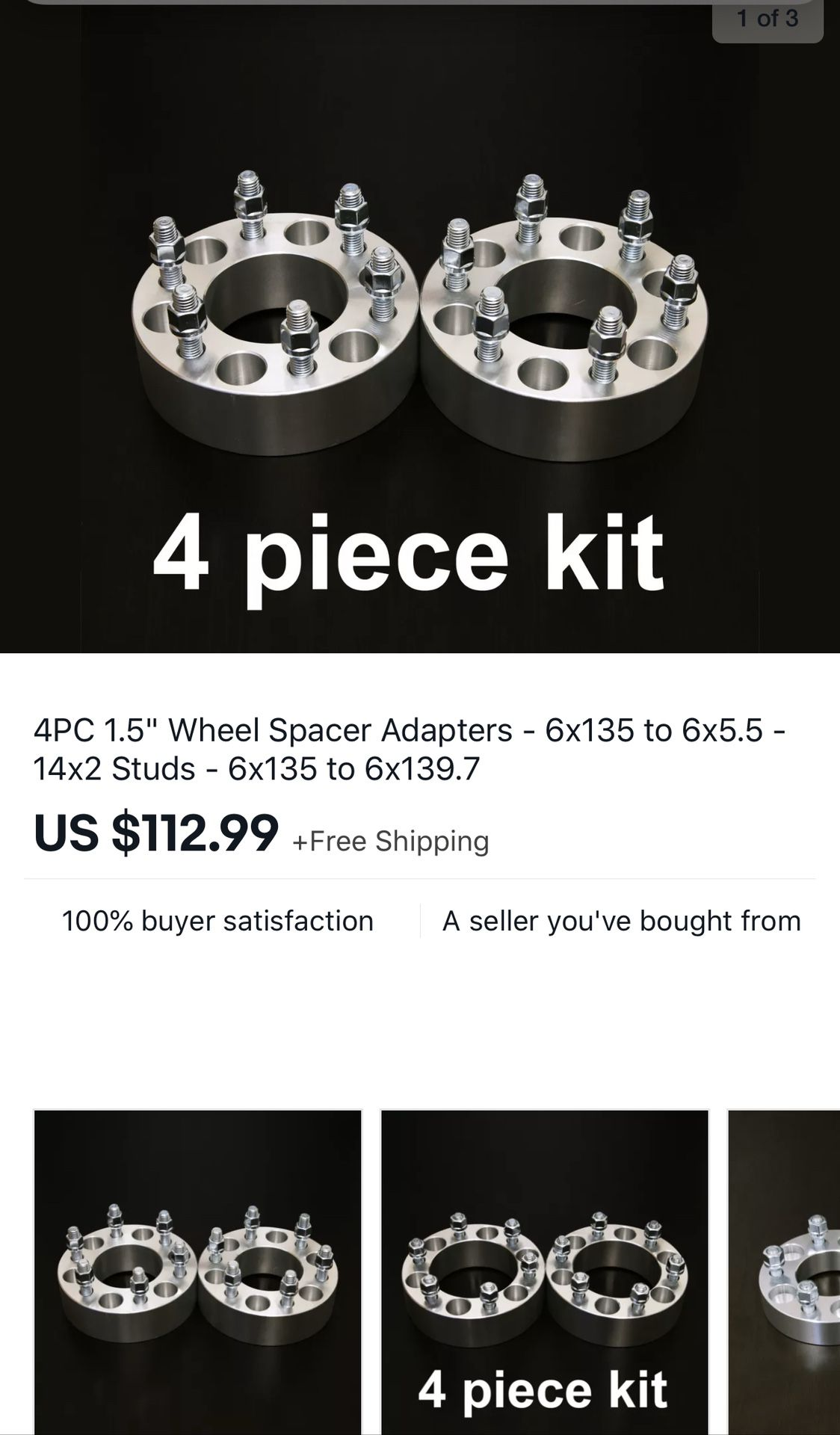 Ford to Chevy wheel adapters