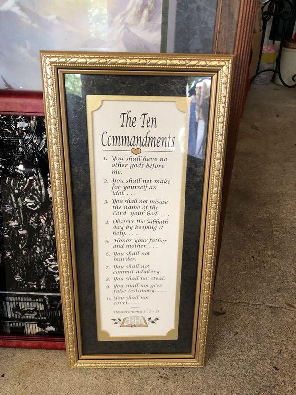 The Ten Commandments Frame For Sale In Virginia Beach Va Offerup