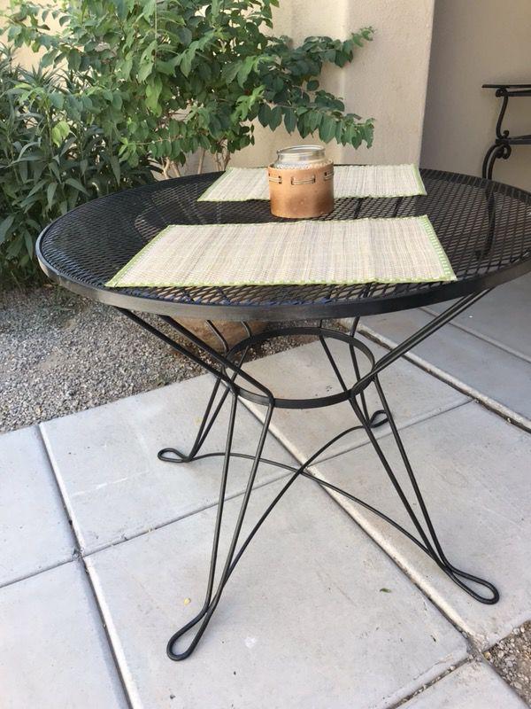 - Vintage Black Iron Patio Table For Sale In Surprise, AZ - OfferUp