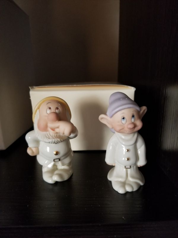 Lennox Dopey And Sneezy Salt And Pepper Shakers Collectibles In