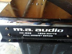 Photo MA Audio 1200 watt mono amp