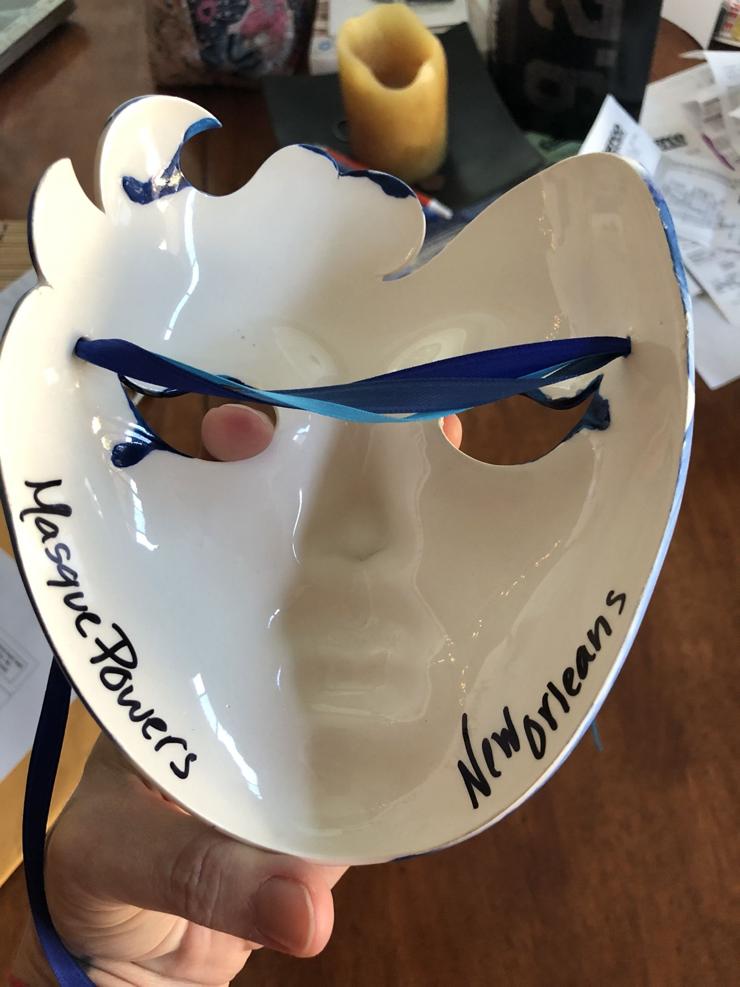 Porcelain mask from New Orleans