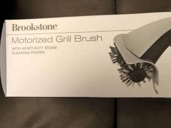 Brookstone Motorized Grill Brush With Steam Cleaning
