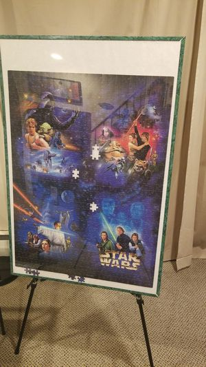 Star Wars puzzle with frame for Sale in Takoma Park, MD