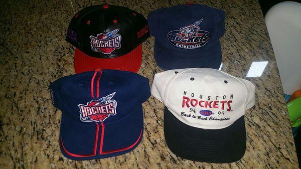 3915323b0b3170 Vintage 90s Houston Rockets Hats Starter NBA playoffs warriors astros  Jordan Nike Adidas