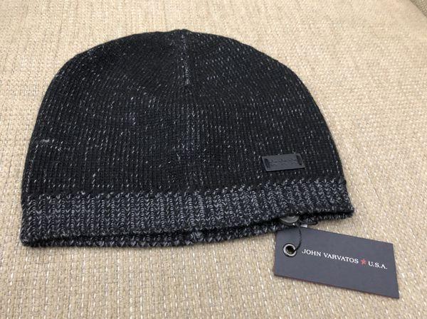 John Varvatos star USA rib knit beanie black NWT for Sale in Silverado 8c567d1cbf7