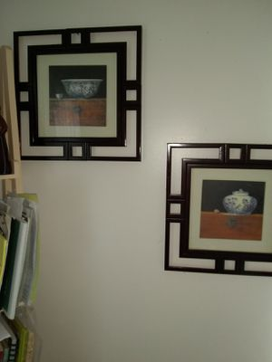 1pair Wall art $15each for Sale in Alexandria, VA