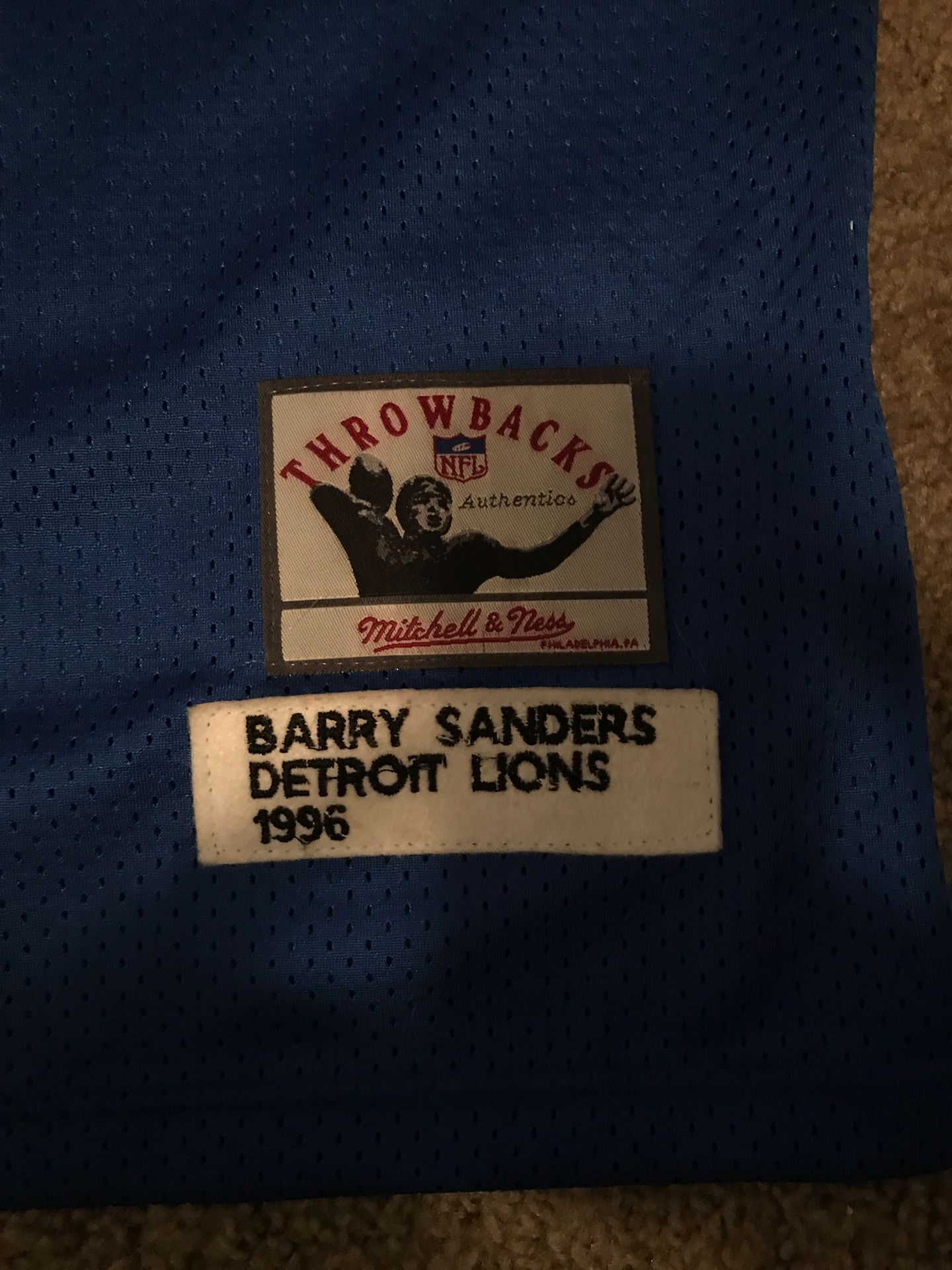 Barry Sanders throwback jersey 1996