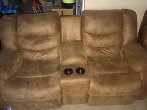 Sectional couch sofa. 3 piece with 4 recliners for Sale in Upper Marlboro, MD