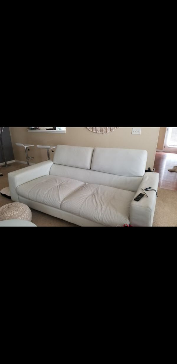 Enjoyable Modern Off White Leather Sofa Couch For Sale In Tucker Ga Caraccident5 Cool Chair Designs And Ideas Caraccident5Info