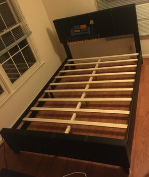 Brand New Full Size Leather Platform Bed Frame for Sale in Silver Spring, MD