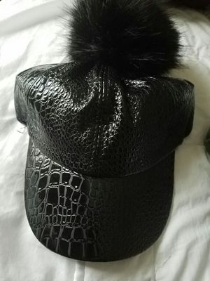 Brand new Faux Croc Womens Cap with Rabbit Fur Topper for Sale in Bowie, MD