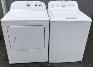 GE WASHER AND Whripool DRYER SET ELECTRIC ⚡️ 2017 for Sale in Puyallup, WA