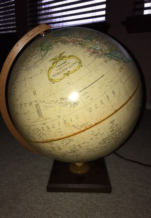 12 inch Heirloom Globe with light for Sale in Austin, TX