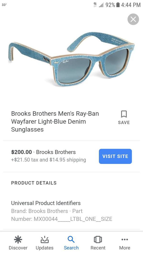 711880ec70c ray ban sunglasses wayfarer denim made Italy for Sale in Westchester ...