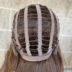 Brown Highlight Wavy Glueless Synthetic Wig Thumbnail
