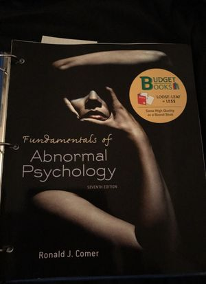 Fundamentals Of Abnormal Psychology for Sale in Santa Monica, CA