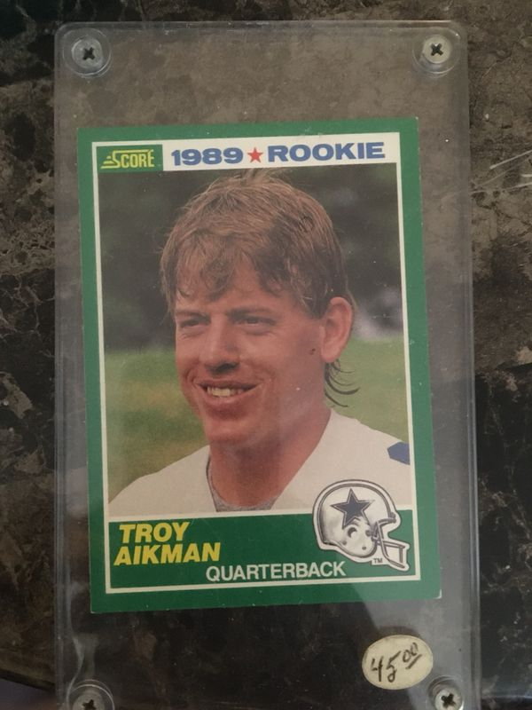 Official Troy Aikman Rookie Card Topps Brand For Sale In Cleveland Oh Offerup