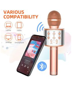 TRONICMASTER Wireless Karaoke Microphone Bluetooth, 3 in 1 Wireless Portable Handheld Mic Karaoke Machine for Christmas Home Birthday Party, Voice Di Thumbnail