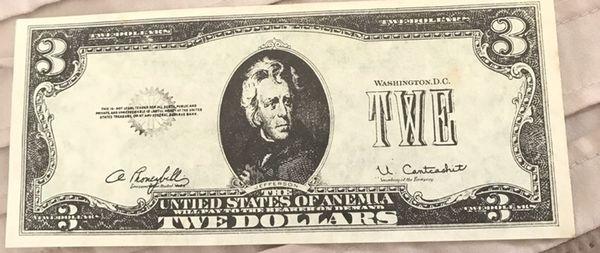 Twe Dollar Bill