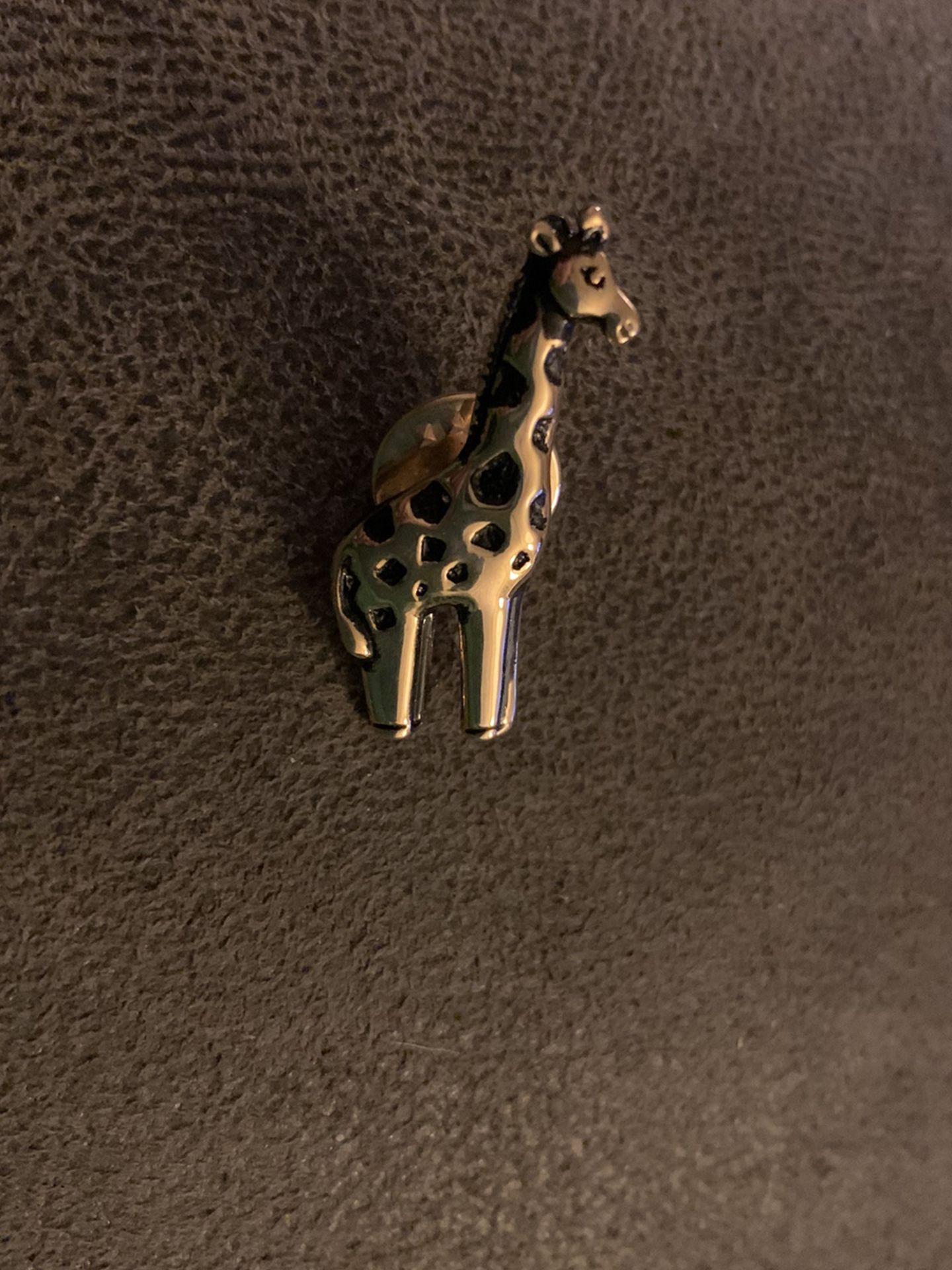 Giraffe Pin Or Tie Clasp (new) Very Nice