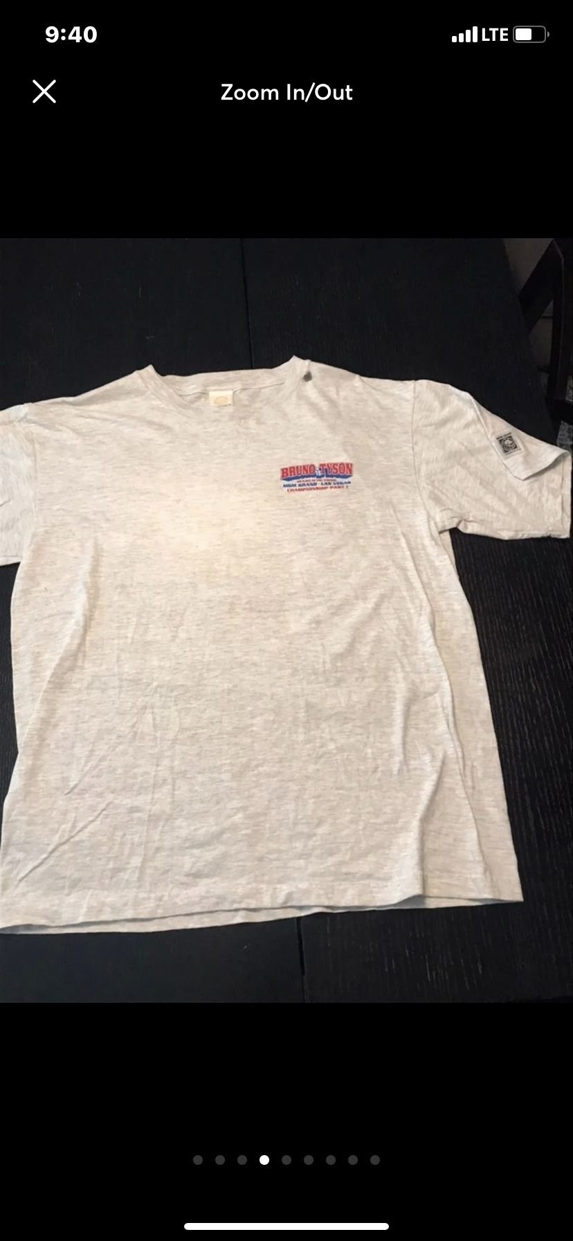 Vintage 1996 Mike Tyson Verse Frank Bruno  MGM tag Size L/XL $300 Flaw Little Ink Left Side You can see in The Last Picture