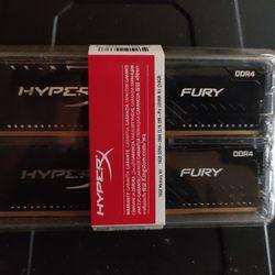 HyperX Fury 16GB 2666MHz DDR4 CL16 DIMM (Kit of 2) 1Rx8 Black XMP Desktop Memory HX426C16FB3K2/16   Thumbnail
