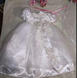 Doll wedding dress set Thumbnail