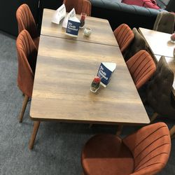 Dining Set 6 chairs And Table 7pc  Thumbnail