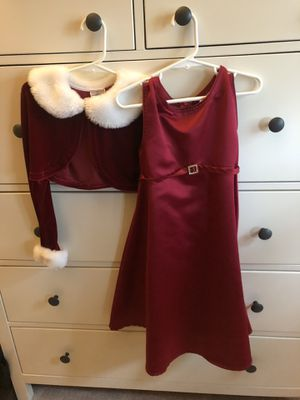 Holiday red Christmas dress set size 6 for Sale in Fairfax Station, VA