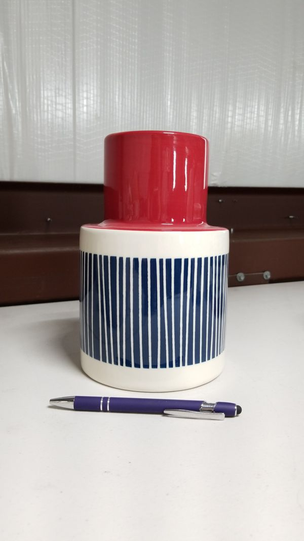 2 New Nautical Vases Planter Red White Blue For Sale In