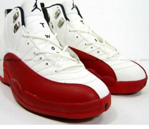 a030c6517e05d8 JORDAN 12S AUTHENTIC WHITE   RED for Sale in Alexandria