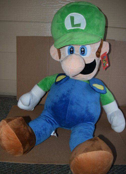 Giant Luigi 3 Feet Tall Plush Super Mario 36 Inches For Sale In