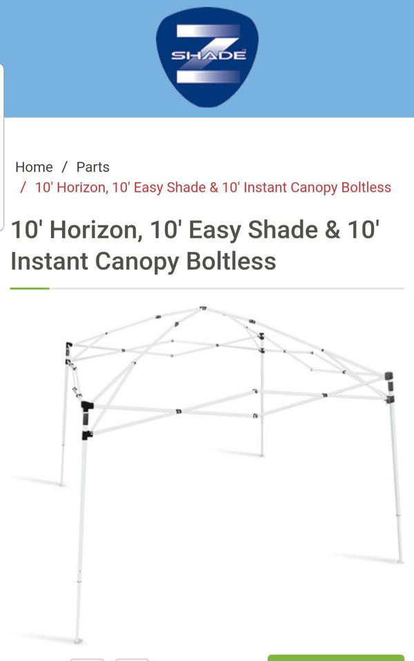 2 Z shade Instant Canopies 10\' x 10\' EZ Up Pop Up Tent No Top Frame ...