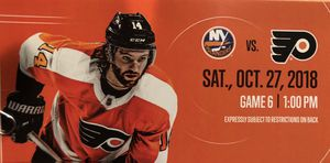 2 Flyers Tickets and a Parking Pass for Sale in Stratford, NJ