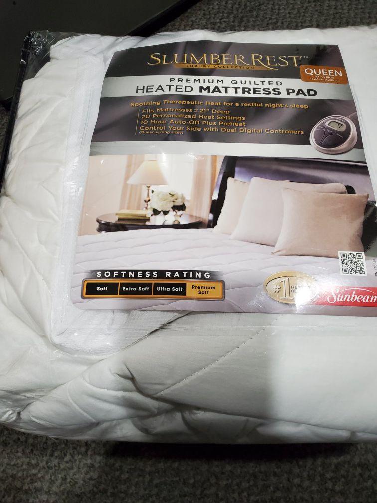 Sunbeam Heated Mattress / Queen / dual controller