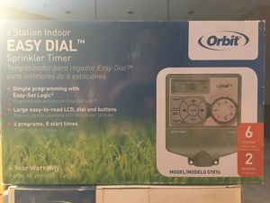 Orbit 6 Station indoor easy dial sprinkler timer for Sale in Queen Creek, AZ
