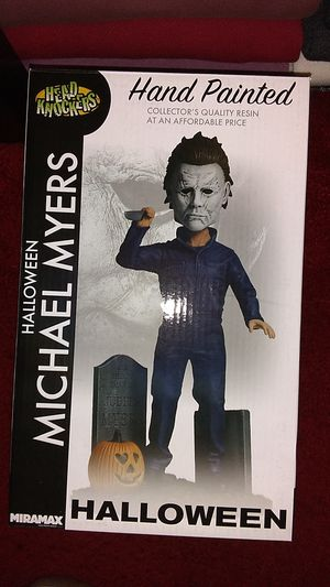 Photo Halloween Michael Myers Statue New In Box