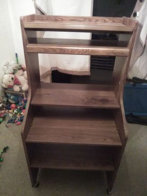 Wood shelf desk like new condition pickup only no holds for Sale in North Versailles, PA