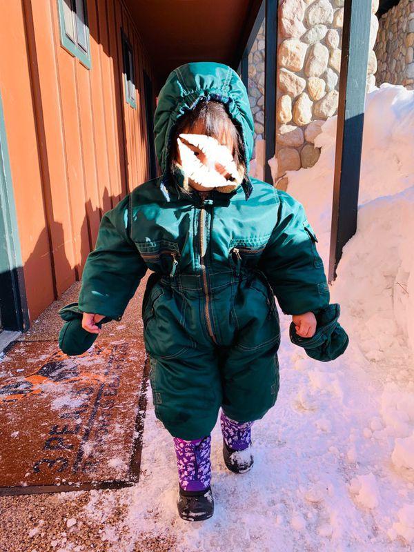 ccbdc91c7 Toddler Baby Snow Suit Winter Suit Green Ski Bib for Sale in San ...
