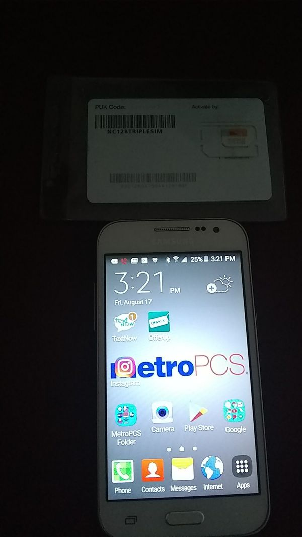 Brand New White Metro Samsung /2Brand New MetroPCS Sim Cards for Sale in  Fort Lauderdale, FL - OfferUp