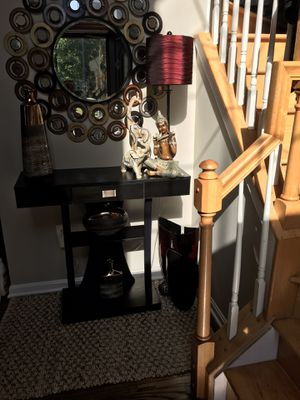 Barely Used Sofa/Console table and a wreath. for Sale in Waldorf, MD