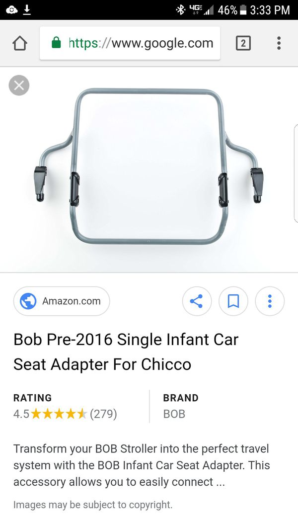 Bob Pre 2016 Single Infant Car Seat Adapter For Chicco CS1003