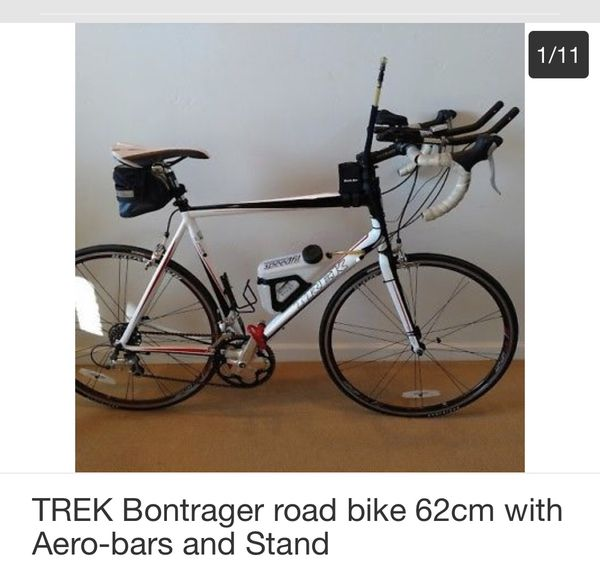 Trek Bontrager Road Bike 62cm With Aero Bars And Stand
