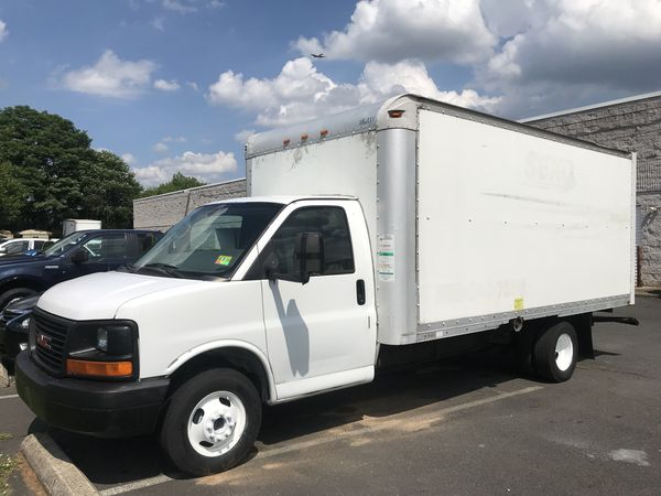 gmc utility truck russell enclosed vehicle savana img sales s